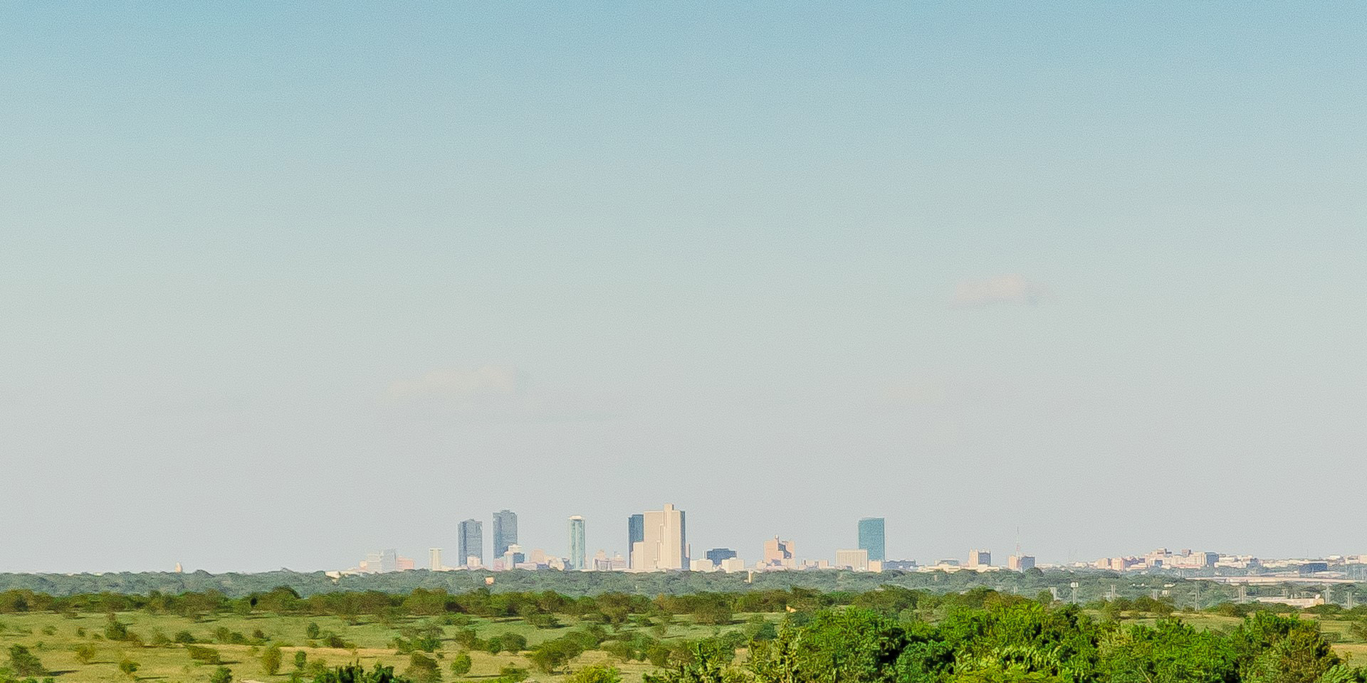 Fort Worth skyline from Ventana community